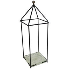 Adnet Jacques Attributed, Umbrella Stand circa 1960 in Lacquered Metal
