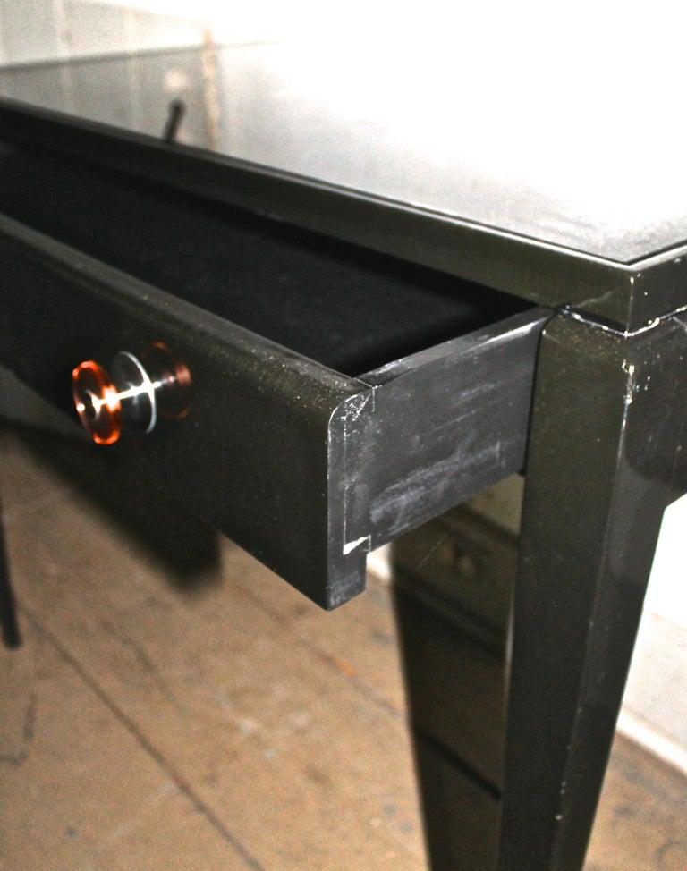 Adnet Style Art Deco Black Lacquer Desk 3