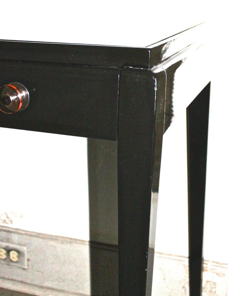 Adnet Style Art Deco Black Lacquer Desk 2