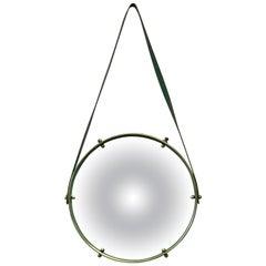 Adnet-Style Round Convex Mirror, circa 1950