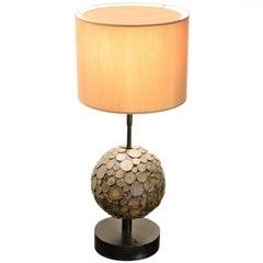Ado Chale, Table Lamp in Marcassite, circa 1970