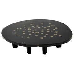 Ado Chale, Coffee Table in Resin with Inclusion of Marcassite, circa 1970