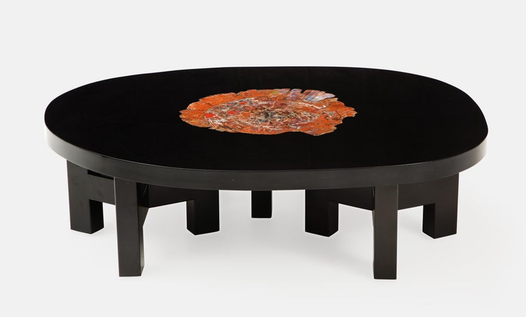 Blackened Ado Chale Rare Coffee Table For Sale