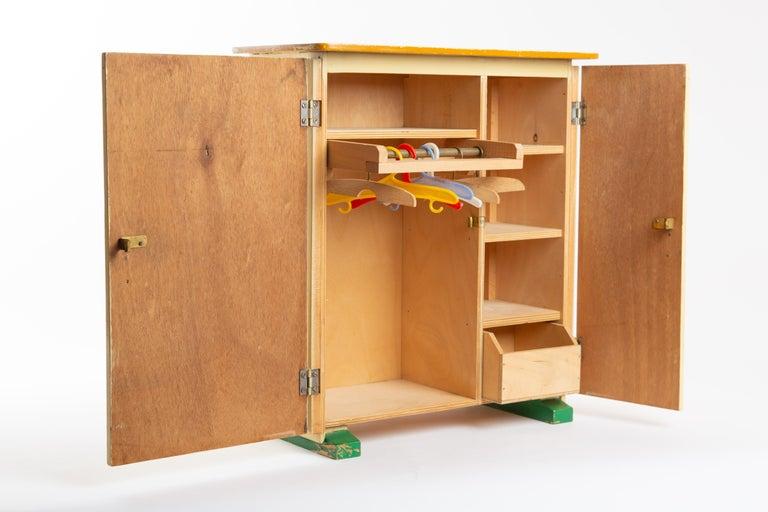 Plywood Ado Ko Verzuu Dutch Wardrobe Closet Toy For Sale