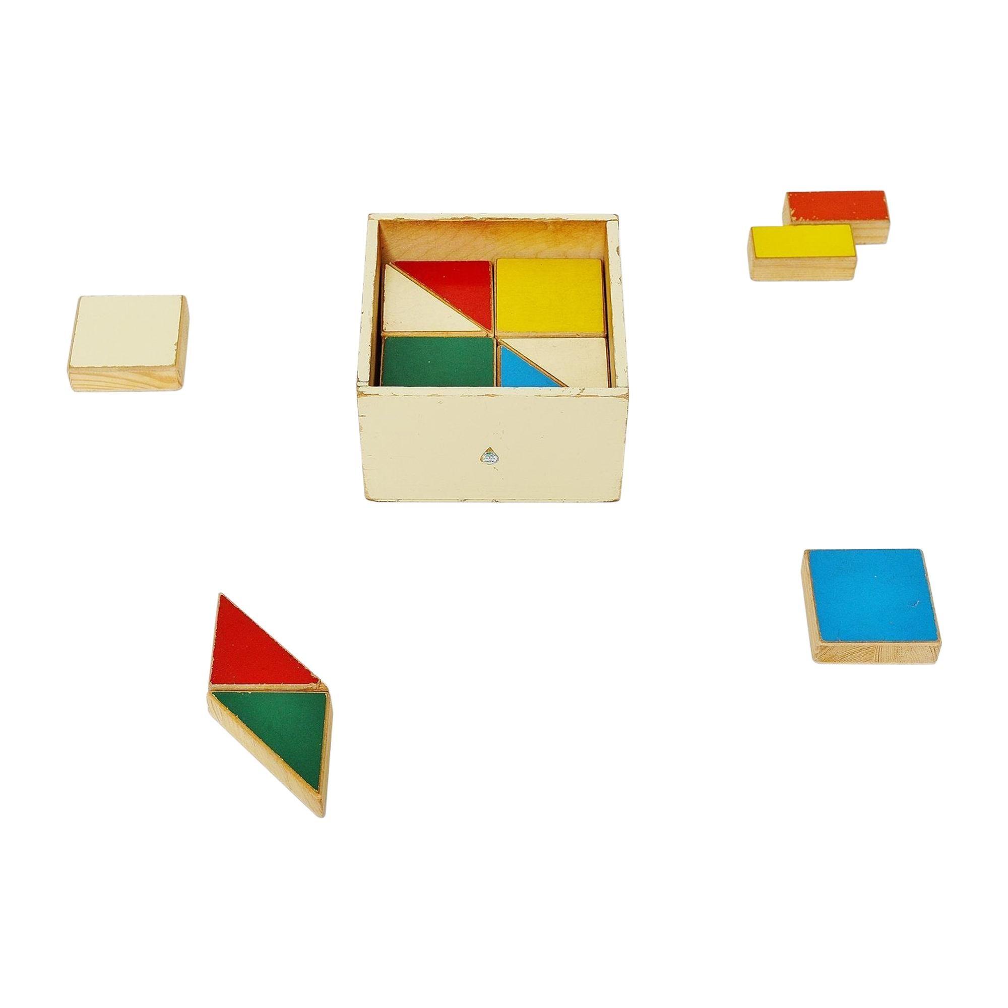Ado Puzzle Cubes Box Ko Verzuu, Holland, 1955
