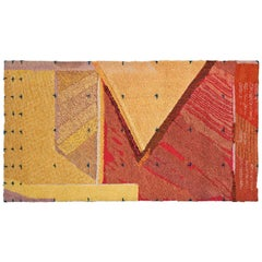 """Adobe de Granville"" Wool Wall Hanging / Rug by J. Anderson"