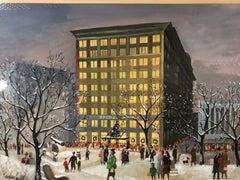 Adolf Dehn 1940s Kresge's at Christmas Time