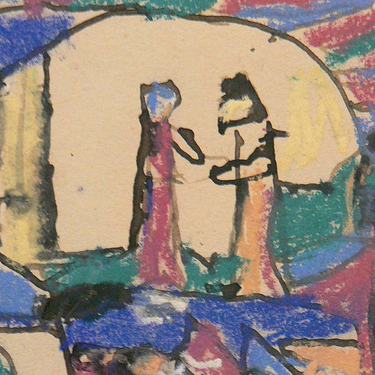 Liebespaar in Mondlandschaft ( Lovers in a moonscape ) by Adolf Hölzel, 1925 For Sale 2