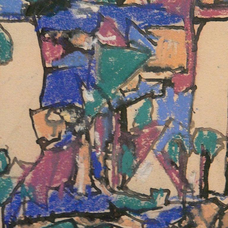 Liebespaar in Mondlandschaft ( Lovers in a moonscape ) by Adolf Hölzel, 1925 For Sale 3