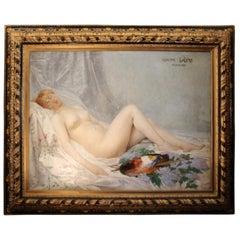 "Adolf La Lyre, ""Model in the Artist's Studio"", Oil on Canvas"