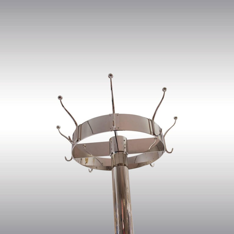 Jugendstil Adolf Loos Coatstand, Coatrack for the Looshouse in Vienna, Re Edition Brass For Sale