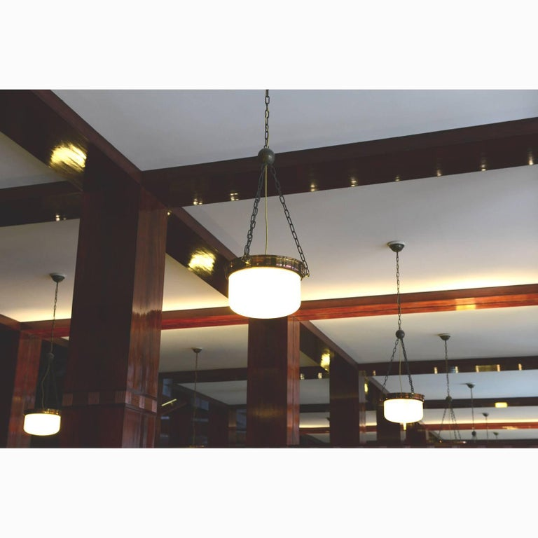 Austrian Adolf Loos Jugendstil Ceiling Lamp from the Looshaus in Vienna Re-Edition For Sale