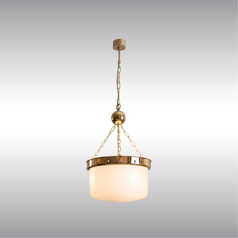 Hand-Crafted Adolf Loos Jugendstil Ceiling Lamp from the Looshaus in Vienna Re-Edition For Sale