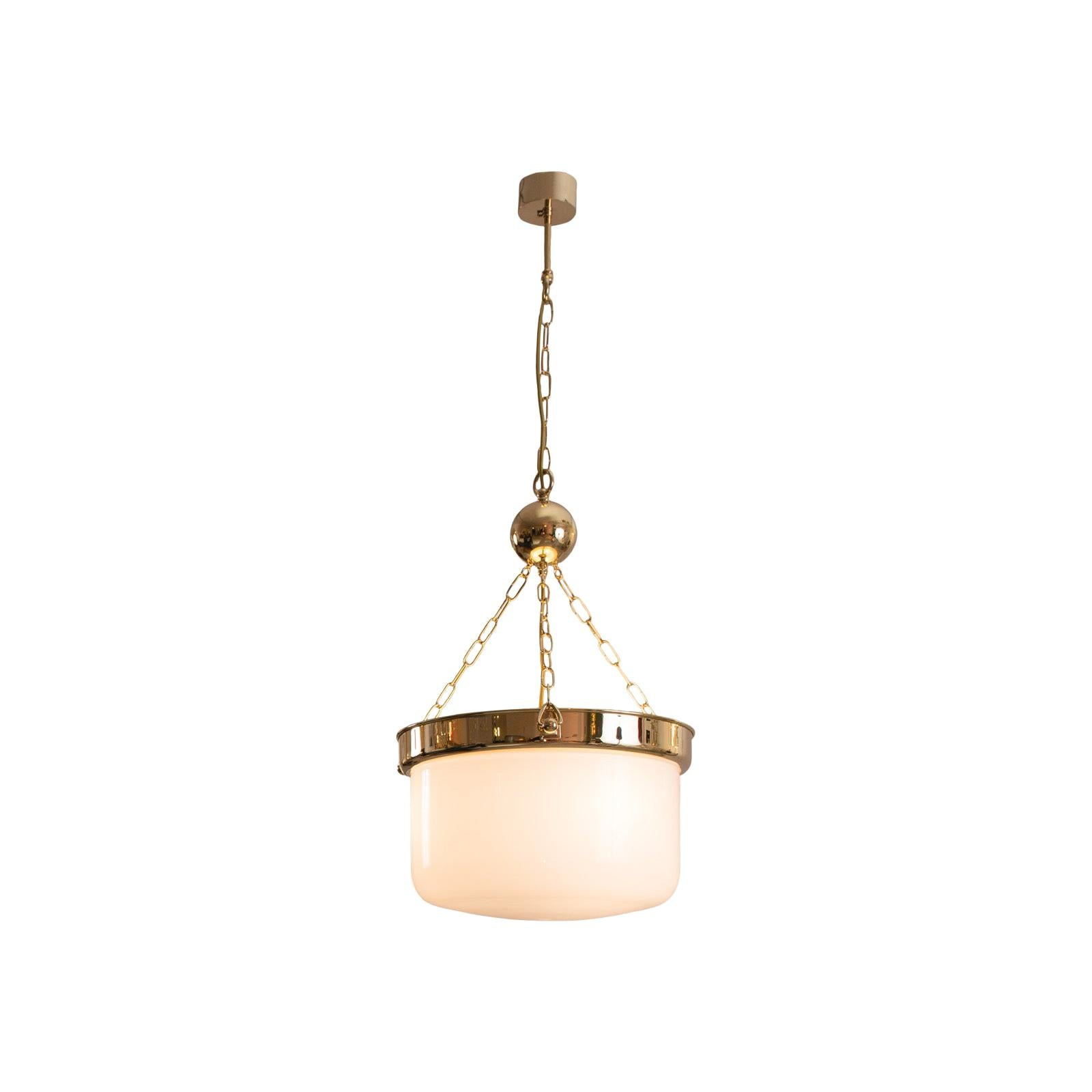 Adolf Loos Jugendstil Ceiling Lamp from the Looshaus in Vienna, Re-Edition
