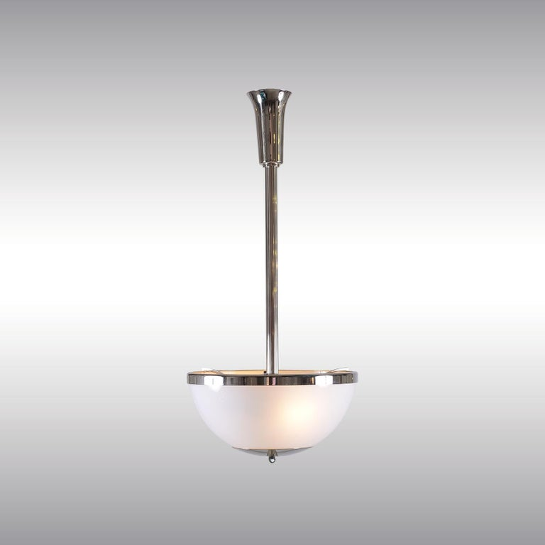 Adolf Loos Jugendstil Opaline Glass Pendant Minimalism In New Condition For Sale In Vienna, AT