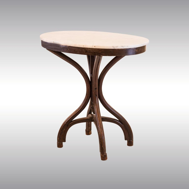 Hand-Crafted Adolf Loos Original Cafe Museum Table with marbel top Jugendstil Secession Style For Sale