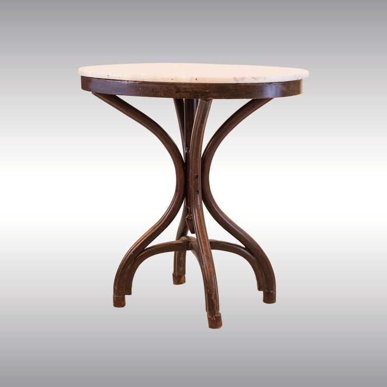 Adolf Loos Original Cafe Museum Table with marbel top Jugendstil Secession Style In Good Condition For Sale In Vienna, AT