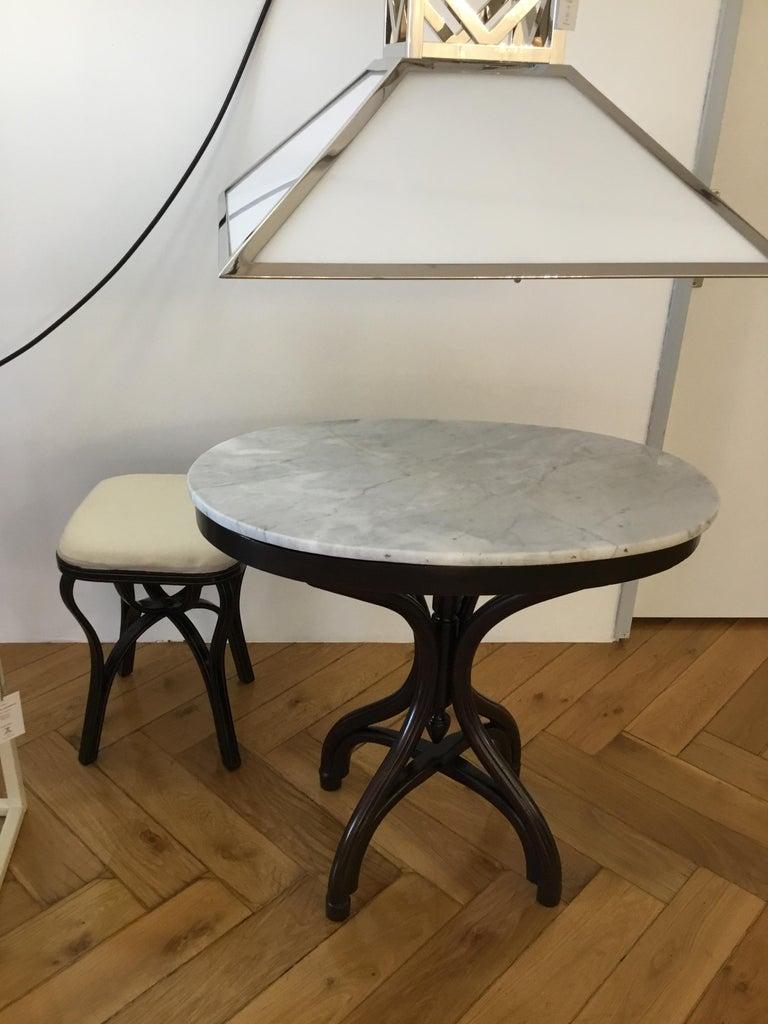 Adolf Loos Original Cafe Museum Table with marbel top Jugendstil Secession Style For Sale 2