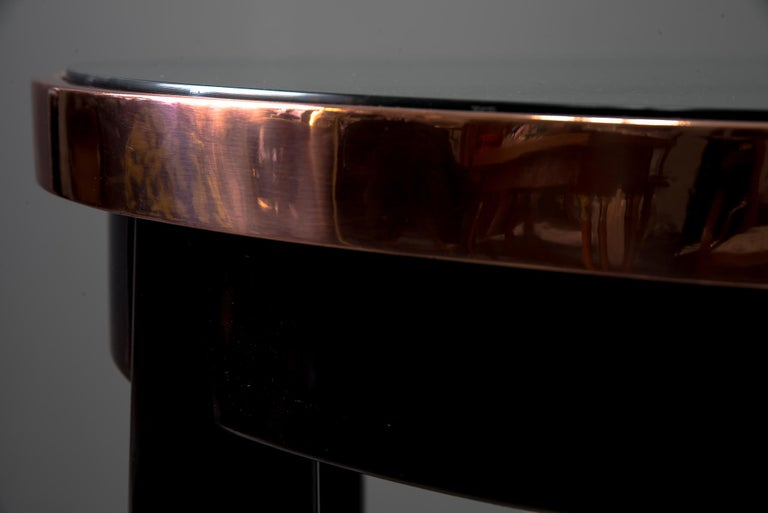 Copper Adolf Loos Round Haberfeld Table For Sale