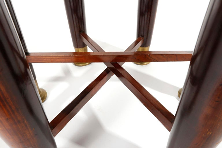Adolf Loos Six-Legged 'Haberfeld' Table, F.O. Schmidt, Brass Wood, Austria, 1899 For Sale 2