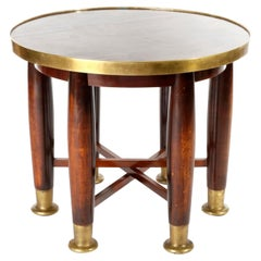 Adolf Loos Six-Legged 'Haberfeld' Table, F.O. Schmidt, Brass Wood, Austria, 1899