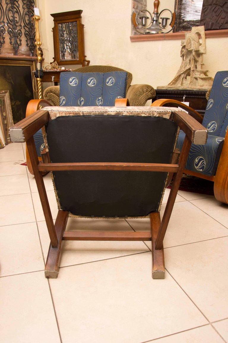 Adolf Loos, Early 20th Century Secessionist Armchair in Oak For Sale 3