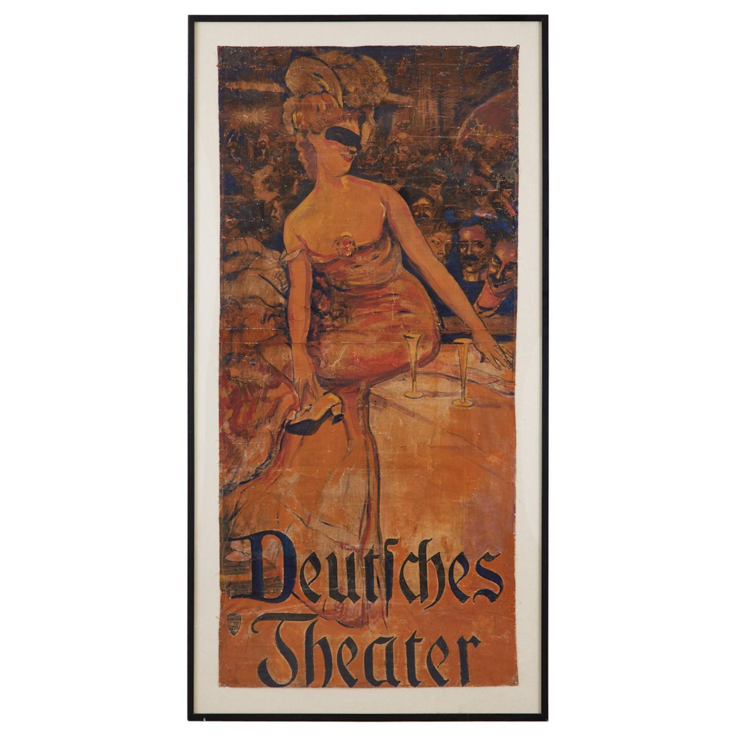 Adolf Munzer Deutsches Theater Poster, 1905