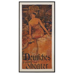 Adolf Munzer Deutsches Theater Poster, 1905
