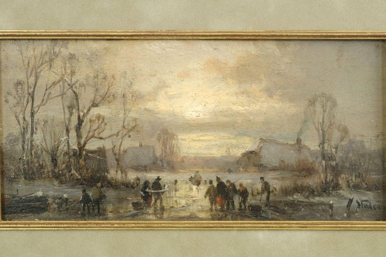 Born to Ferdinand Stademann in Munich June 19, 1824, Adolf studied under Lebschée and Lotze, working the majority of his career in Munich. He specialized in landscape and genre scenes, but focused primarily on nostalgic winterscapes, often capturing