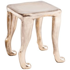 Adolfo Abejon Bronze Sculpture Stool 'Khamon'