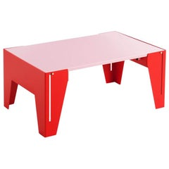 Adolfo Abejon Contemporary Design 'Falcon' Pink Side Table