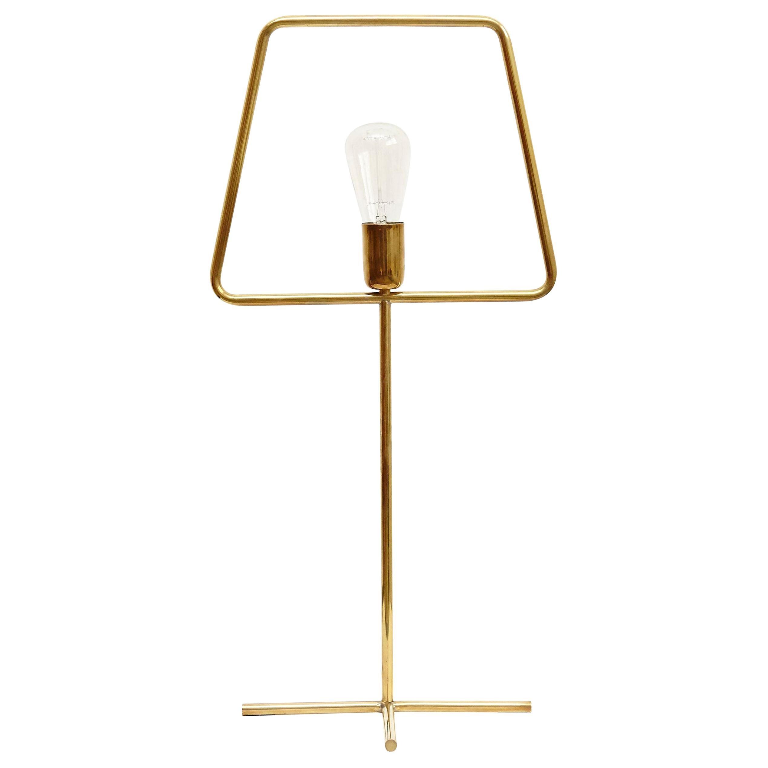 Adolfo Abejon Contemporary Design 'Slim Brass' Lamp Prototype in Brass, 2016