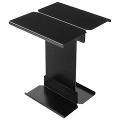 Adolfo Abejon Contemporary 'Five' Black Metal Sculptural Coffee Table