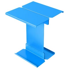 Adolfo Abejon Contemporary 'Five' Blue Metal Sculptural Coffee Table