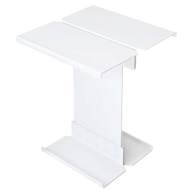 Adolfo Abejon Contemporary 'Five' White Metal Sculptural Coffee Table