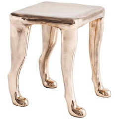 Adolfo Abejon, Contemporary Limited Edition of 8 Bronze Sculpture Stool 'Khamon'