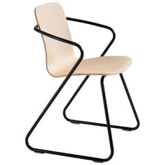 Adolfo Abejon Contemporary Set of 8 'Cobra' Wood and Metal Sculptural Chair