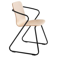 Adolfo Abejon Set of 4 Contemporary 'Cobra' Wood and Metal Sculptural Chair