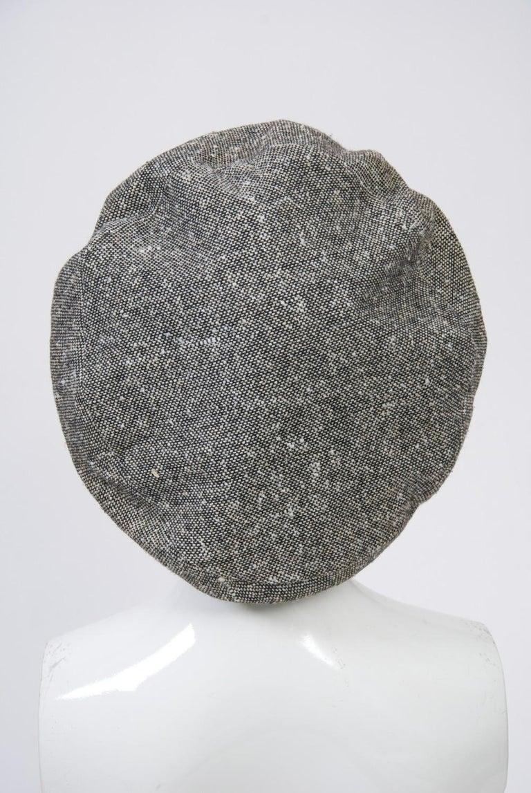 Adolfo Black/White Tweed Beret, c.1970 For Sale 2