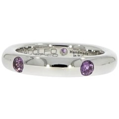 Adolfo Courrier Wisteria Sapphire Stackable White Gold Band