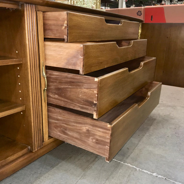 Adolfo Genovese Walnut Buffet Sideboard For Sale 7