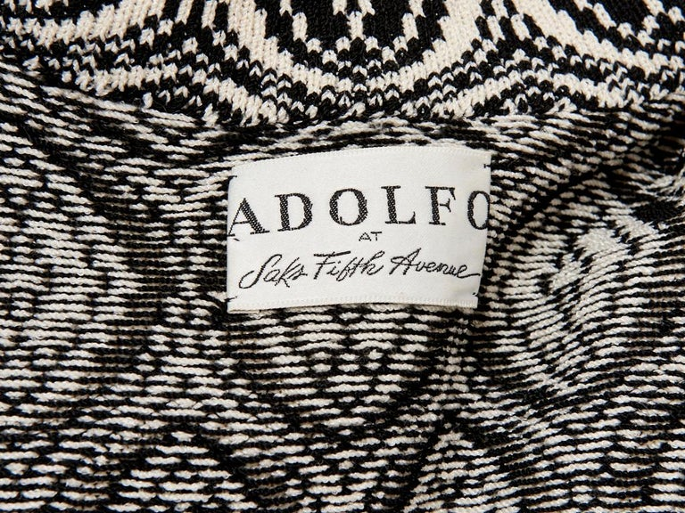 Men's Adolfo Graphic Pattern Knit Cardigan For Sale