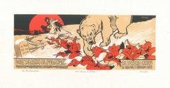 Dall'Alaska al Polo Nord- Original Lithograph by A. Hohenstein - Early 1898