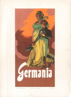 Germania- Original Lithograph by A. Hohenstein - Early 1900