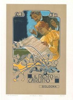 Il Resto del Carlino - Vintage Color Lithograph by A. Hohenstein - Early 1900