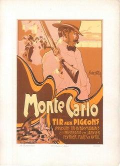 Monte Carlo - Tir aux Pigeons - 1900s - Adolfo Hohenstein - Print - Modern
