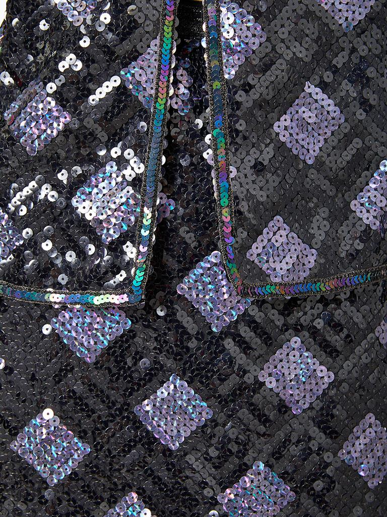 Adolfo Sequined Dinner Suit In Good Condition For Sale In New York, NY