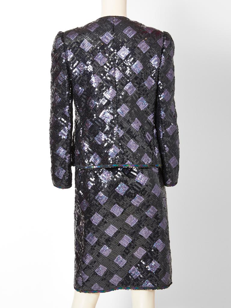 Adolfo Sequined Dinner Suit For Sale 1