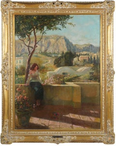 Landscape in Italy by Adolf M. Brougier