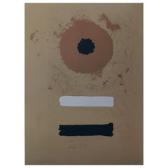 Adolph Gottlieb Abstract Color Lithograph, 1969, Two Bars